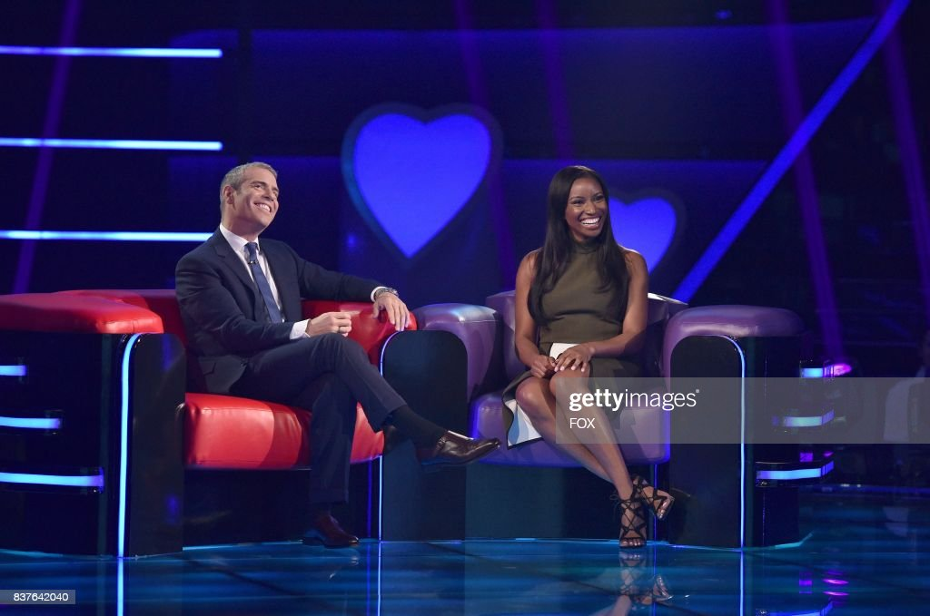 Host Andy Cohen and Single Phoebe Tatum in LOVE CONNECTION airing Thursday, Aug. 3 (9:00-10:00 PM ET/PT) on FOX.