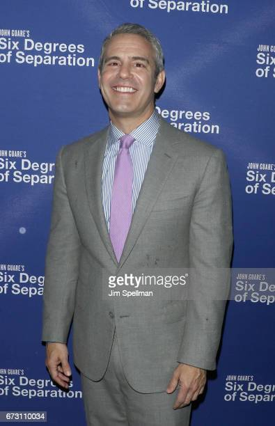 TV host Andy Cohen attends the 'Six Degrees Of Separation' Broadway opening night 'Six Degrees Of Separation' Broadway Opening Night Arrivals Curtain...