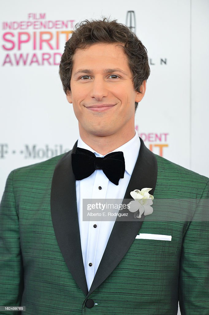 Host <a gi-track='captionPersonalityLinkClicked' href=/galleries/search?phrase=Andy+Samberg&family=editorial&specificpeople=595651 ng-click='$event.stopPropagation()'>Andy Samberg</a> attends the 2013 Film Independent Spirit Awards at Santa Monica Beach on February 23, 2013 in Santa Monica, California.