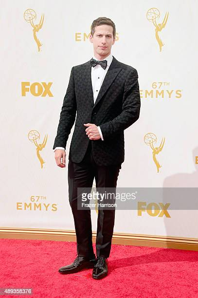 Host Andy Samberg attends the 67th Annual Primetime Emmy Awards at Microsoft Theater on September 20 2015 in Los Angeles California