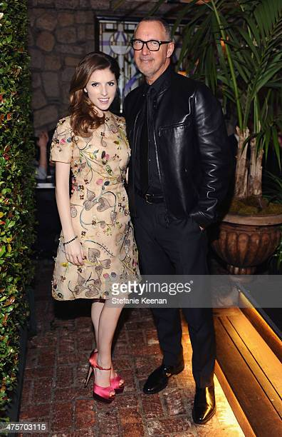Host Anna Kendrick and VP and Publisher of Vanity Fair Edward Menicheschi attend DJ Night with L'Oreal Paris during Vanity Fair Campaign Hollywood at...