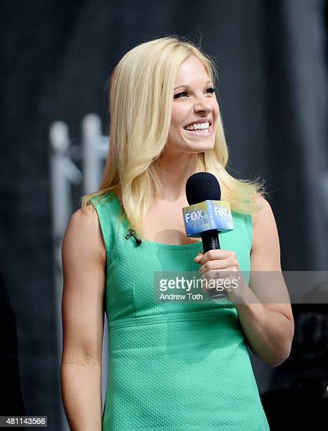 Host Anna Kooiman speaks on stage during 'FOX Friends' All American Concert Series outside of FOX Studios on July 17 2015 in New York City