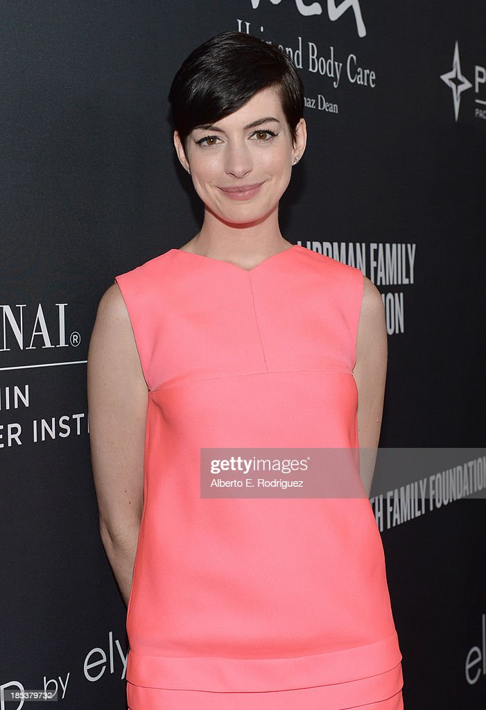 Host <a gi-track='captionPersonalityLinkClicked' href=/galleries/search?phrase=Anne+Hathaway+-+Actress&family=editorial&specificpeople=11647173 ng-click='$event.stopPropagation()'>Anne Hathaway</a> attends Elyse Walker Presents The Pink Party 2013 hosted by <a gi-track='captionPersonalityLinkClicked' href=/galleries/search?phrase=Anne+Hathaway+-+Actress&family=editorial&specificpeople=11647173 ng-click='$event.stopPropagation()'>Anne Hathaway</a> at Barker Hangar on October 19, 2013 in Santa Monica, California.