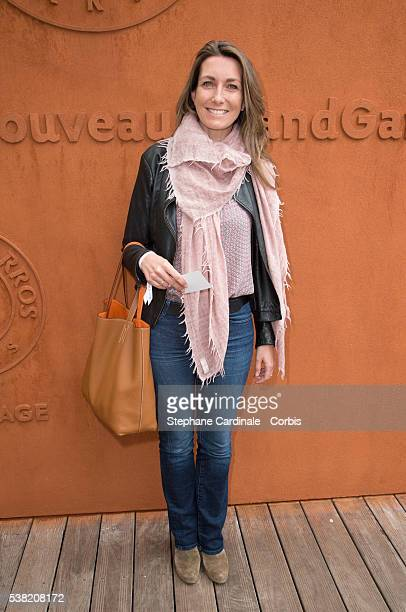 Host AnneClaire Coudray attends day Fourteen of the 2016 French Open at Roland Garros on June 4 2016 in Paris France