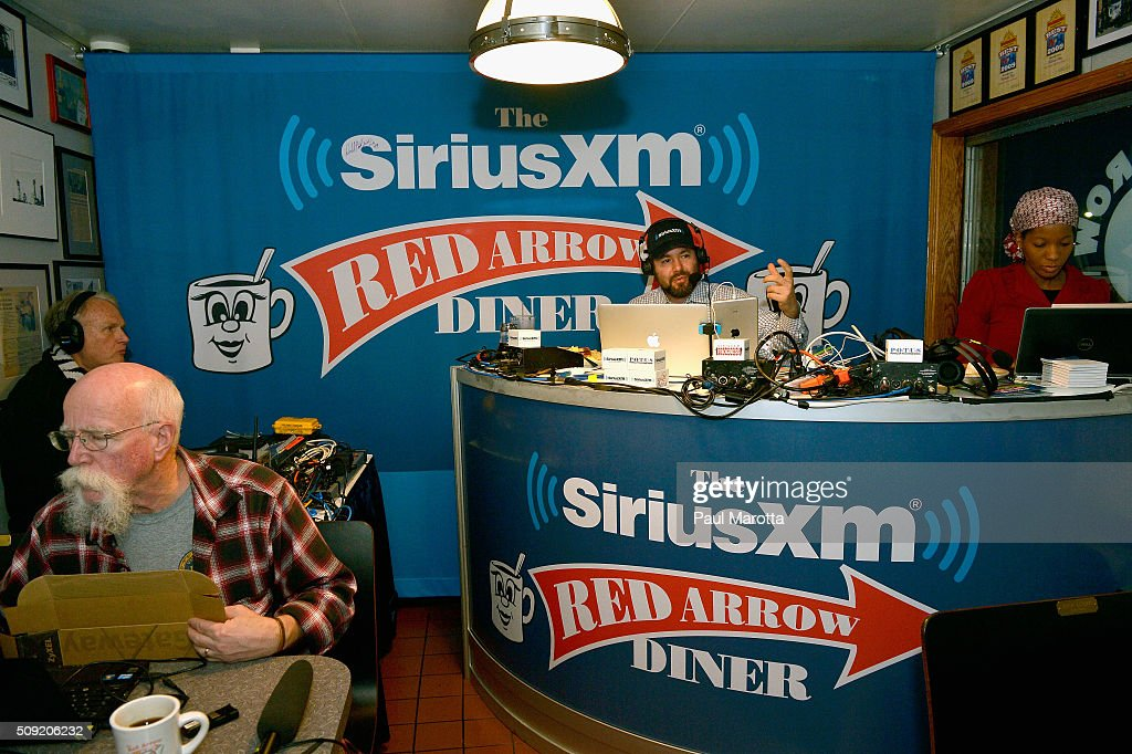Host Ari Rabin-Havt at SiriusXM Red Diner Broadcasts from New Hampshire Primary Coverage Live on February 9, 2016 in Manchester, New Hampshire.