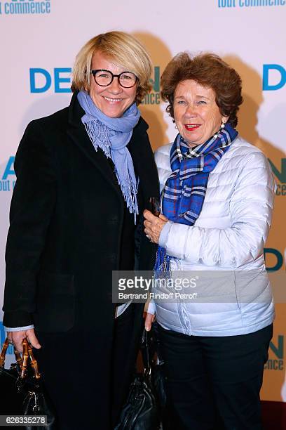 Host Ariane Massenet and her mother MarieJosee attend the 'Demain Tout Commence' Paris Premiere at Cinema Le Grand Rex on November 28 2016 in Paris...