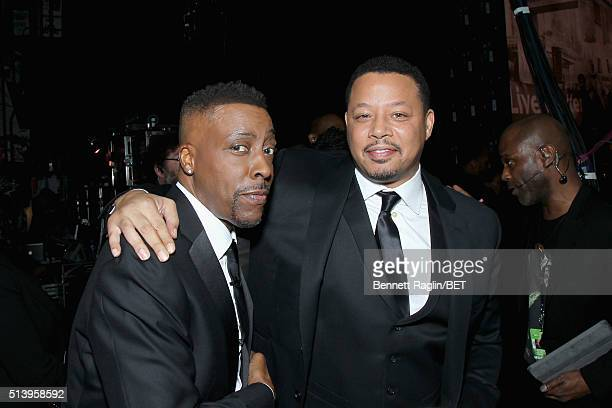 Host Arsenio Hall and actor Terrence Howard attend BET Honors 2016 at Warner Theatre on March 5 2016 in Washington DC