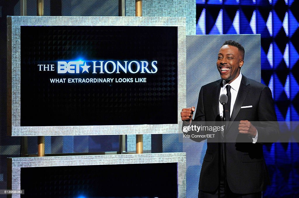 Host <a gi-track='captionPersonalityLinkClicked' href=/galleries/search?phrase=Arsenio+Hall&family=editorial&specificpeople=211441 ng-click='$event.stopPropagation()'>Arsenio Hall</a> speaks on stage during the BET Honors 2016 Show at Warner Theatre on March 5, 2016 in Washington, DC.