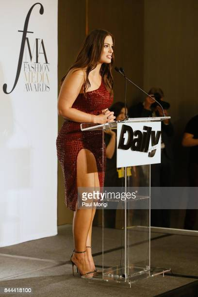 Host Ashley Graham speaks onstage during the Daily Front Row's Fashion Media Awards at Four Seasons Hotel New York Downtown on September 8 2017 in...