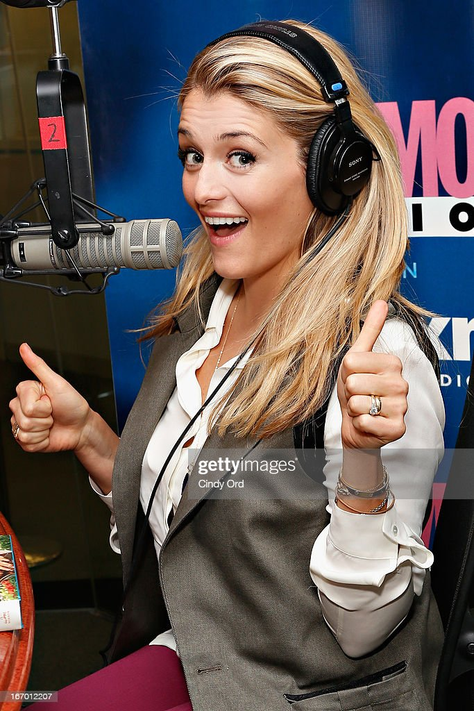 TV host/ author Daphne Oz hosts a Cosmo Radio special 'Live it Up!' at the SiriusXM Studios on April 19, 2013 in New York City.