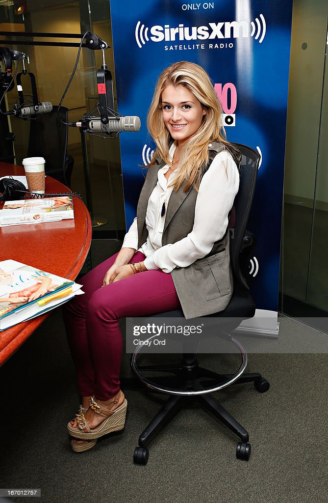TV host/ author Daphne Oz visits Cosmo Radio at the SiriusXM Studios on April 19, 2013 in New York City.