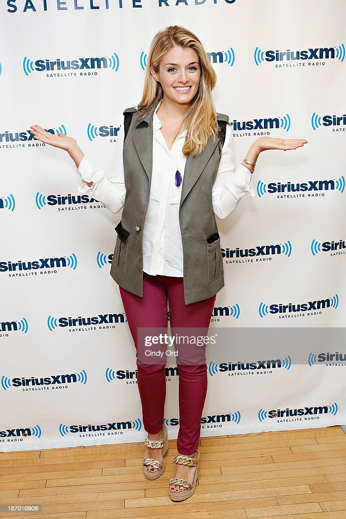 TV host/ author Daphne Oz visits the SiriusXM Studios on April 19, 2013 in New York City.