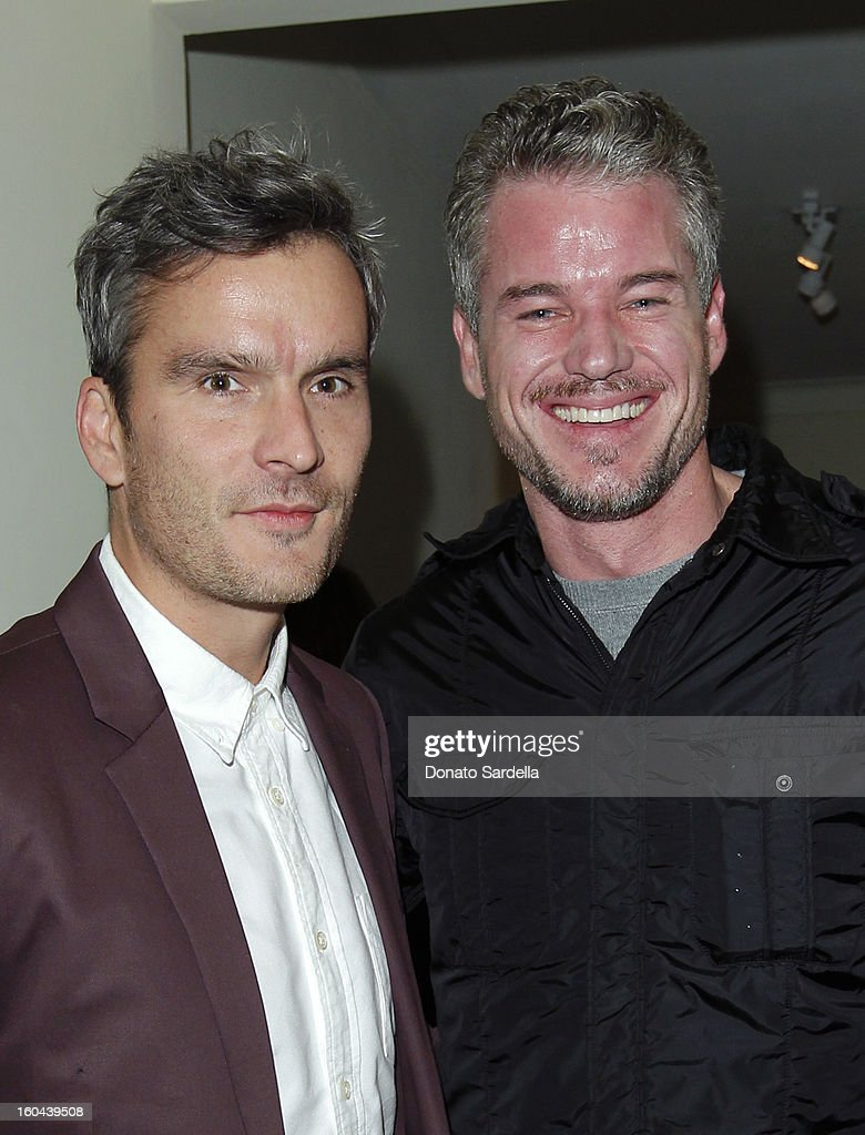 Host Balthazar Getty (L) and Eric Dane attend Hoorsenbuhs for Forevermark Collection cocktail party at Chateau Marmont on January 30, 2013 in Los Angeles, California.