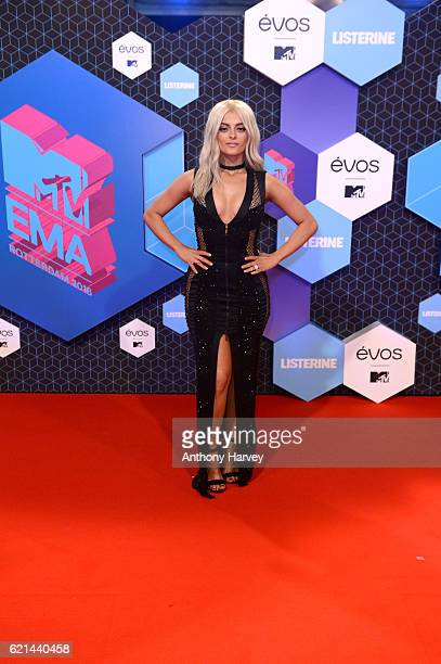 Host Bebe Rexha attends the MTV Europe Music Awards 2016 on November 6 2016 in Rotterdam Netherlands