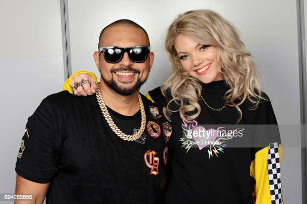 Host Becca Dudley and Sean Paul at MTV Live Stage at ExCel on June 9 2017 in London England MTV Live Stage is a new music series that puts the artist...