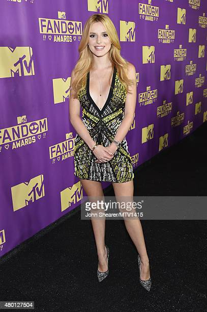 Host Bella Thorne attends the MTV Fandom Awards San Diego at PETCO Park on July 9 2015 in San Diego California