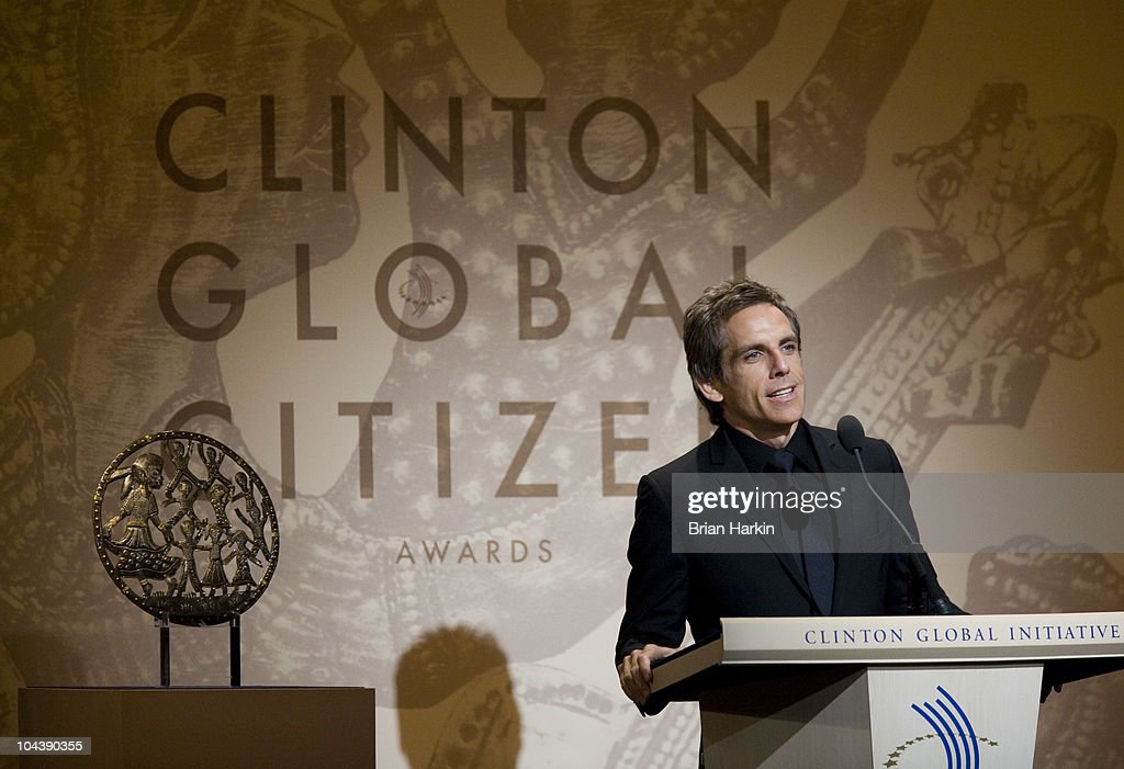 Host Ben Stiller speaks during the Clinton Global Citizens Awards at the conclusion to the annual Clinton Global Initiative (CGI) on September 23, 2010 in New York City. The sixth annual meeting of the CGI gathers prominent individuals in politics, business, science, academics, religion and entertainment to discuss global issues such as climate change and the reconstruction of Haiti. The event, founded by Clinton after he left office, is held the same week as the General Assembly at the United Nations, when most world leaders are in New York City.