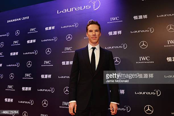 Host Benedict Cumberbatch attends the 2015 Laureus World Sports Awards at Shanghai Grand Theatre on April 15 2015 in Shanghai China