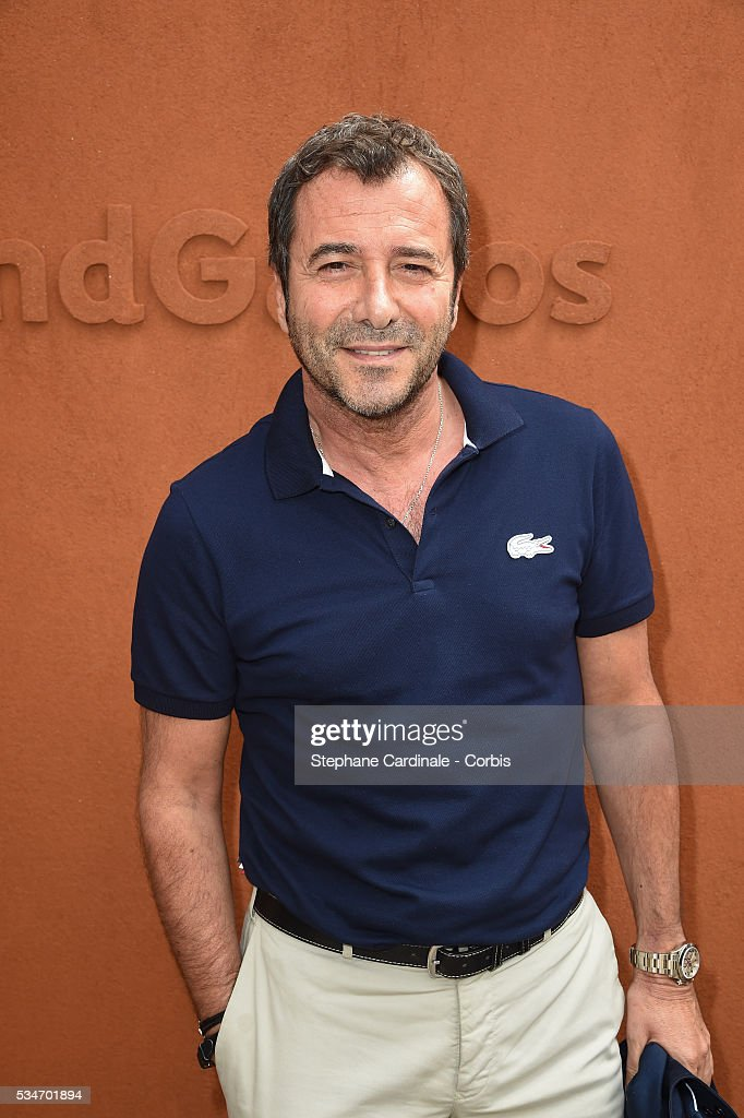 TV Host <a gi-track='captionPersonalityLinkClicked' href=/galleries/search?phrase=Bernard+Montiel&family=editorial&specificpeople=221485 ng-click='$event.stopPropagation()'>Bernard Montiel</a> attends day six of the 2016 French Open at Roland Garros on May 27, 2016 in Paris, France.
