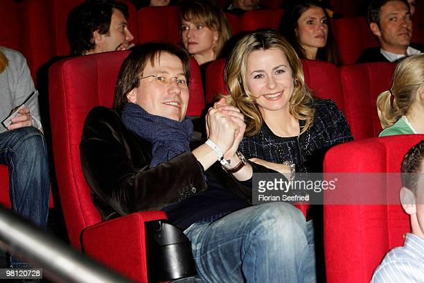 TV host Bettina Cramer and husband Michael Cramer attend the premiere of 'Der KautionsCop' at CineMaxx at Potsdam Place on March 29 2010 in Berlin...