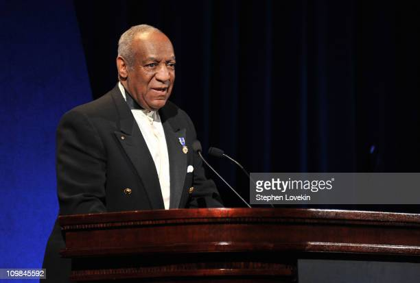 Host Bill Cosby speaks onstage at the 2011 Jackie Robinson Foundation awards gala atThe Waldorf=Astoria on March 7 2011 in New York City