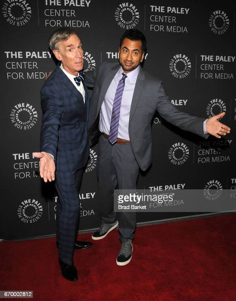 Host Bill Nye and Kal Penn attend The Paley Center For Media presents 'Bill Nye Saves The World' screening and QA at The Paley Center for Media on...