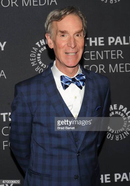 Host Bill Nye attends The Paley Center For Media presents 'Bill Nye Saves The World' screening and QA at The Paley Center for Media on April 18 2017...