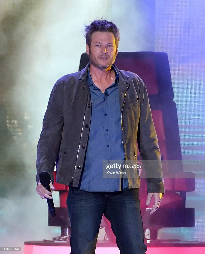 Host <a gi-track='captionPersonalityLinkClicked' href=/galleries/search?phrase=Blake+Shelton&family=editorial&specificpeople=2352026 ng-click='$event.stopPropagation()'>Blake Shelton</a> speaks onstage during Nickelodeon's 2016 Kids' Choice Awards at The Forum on March 12, 2016 in Inglewood, California.
