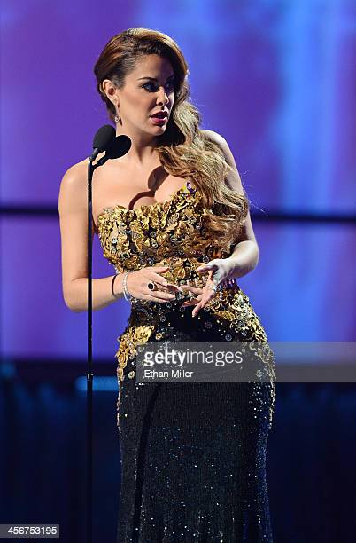 Host Blanca Soto speaks onstage during the 14th annual Latin GRAMMY Awards at the Mandalay Bay Events Center on November 21 2013 in Las Vegas Nevada