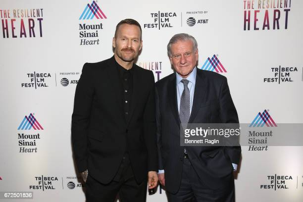 Host Bob Harper and Director of Mount Sinai Heart and PhysicianinChief of The Mount Sinai Hospital Dr Valentin Fuster MD PHD during the Tribeca Film...