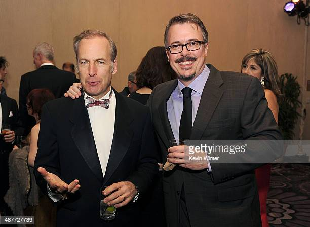 Host Bob Odenkirk and writer/director Vince Gilligan attend the 64th Annual ACE Eddie Awards at the Beverly Hilton Hotel on February 7 2014 in...