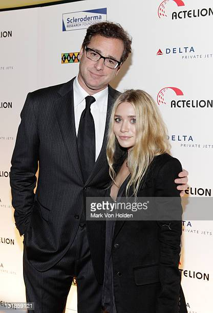 Host Bob Saget and Ashley Olsen attend the Cool Comedy Hot Cuisine for Scleroderma Research Foundation hosted by Bob Saget at Carolines On Broadway...