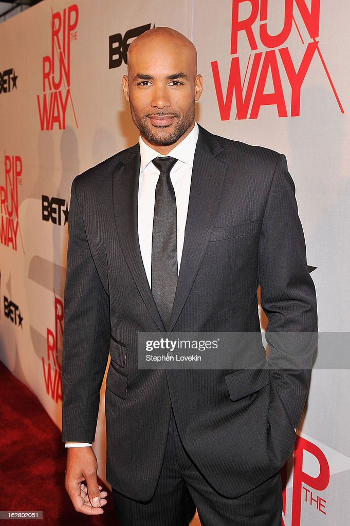 Host <a gi-track='captionPersonalityLinkClicked' href=/galleries/search?phrase=Boris+Kodjoe&family=editorial&specificpeople=240156 ng-click='$event.stopPropagation()'>Boris Kodjoe</a> attends BET's Rip The Runway 2013:Red Carpet at Hammerstein Ballroom on February 27, 2013 in New York City.