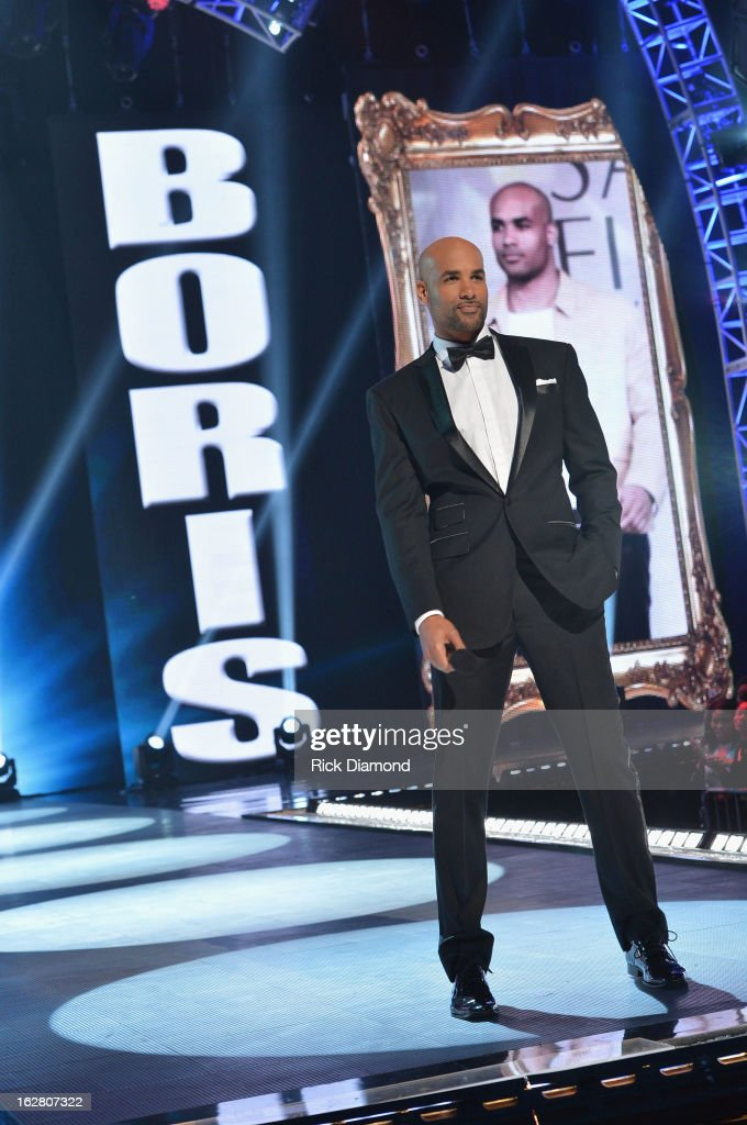 Host <a gi-track='captionPersonalityLinkClicked' href=/galleries/search?phrase=Boris+Kodjoe&family=editorial&specificpeople=240156 ng-click='$event.stopPropagation()'>Boris Kodjoe</a> on stage at BET's Rip The Runway 2013:Show at Hammerstein Ballroom on February 27, 2013 in New York City.