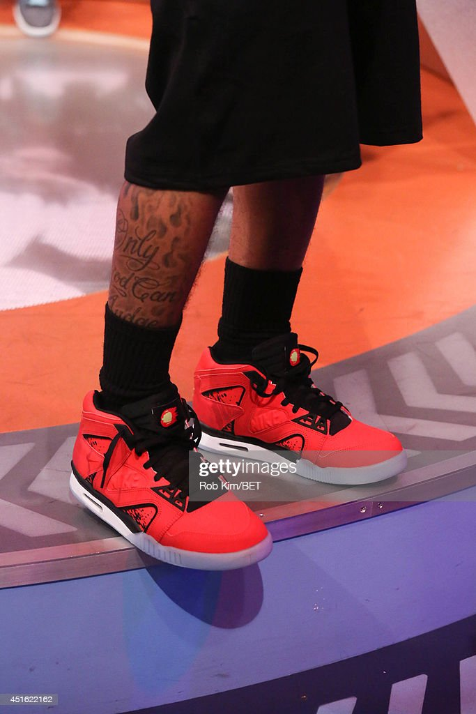 Host Bow Wow (shoe detail) at BET's 106 & Park at BET studios on July 1, 2014 in New York City.