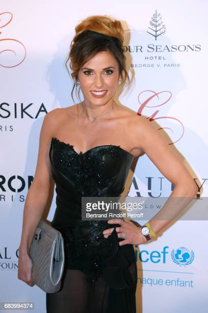 Host Capucine Anav attends the 'Global Gift the Eva Foundation' Gala Photocall at Hotel George V on May 16 2017 in Paris France