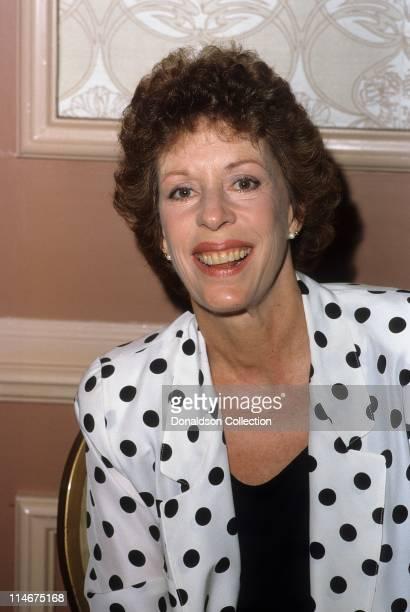 Host Carol Burnett poses for a portrait in circa 1985 in Los Angeles California