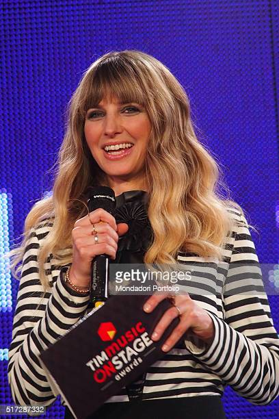 Host Carolina Di Domenico during the TIMmusic Onstage Awards ceremony Milan 14th March 2016