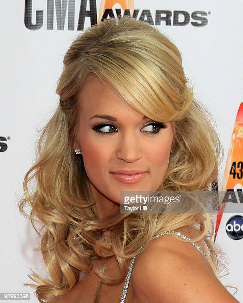 Host Carrie Underwood attends the 43rd Annual CMA Awards at the Sommet Center on November 11 2009 in Nashville Tennessee