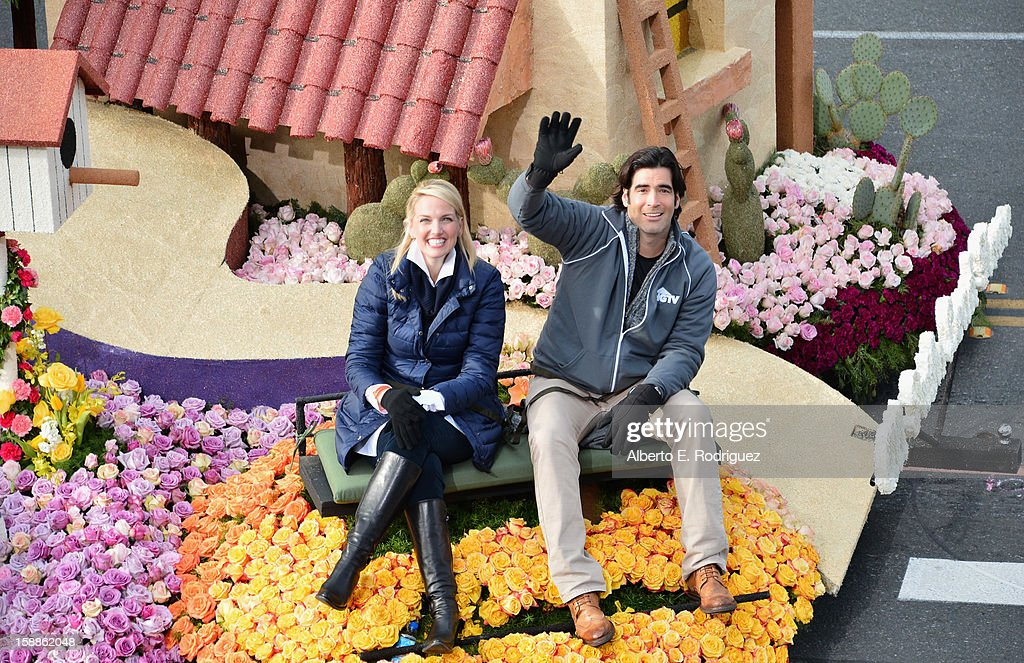 HGTV host Carter Oosterhouse (R) participates in the 124th Tournamernt of Roses Parade on January 1, 2013 in Pasadena, California.