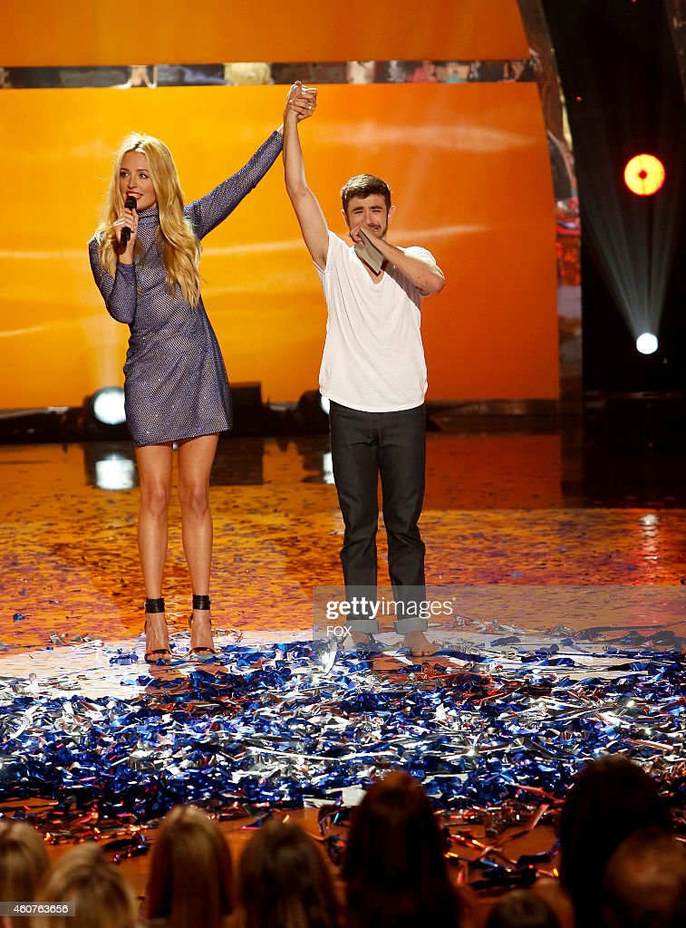 Host Cat Deeley announces winning contestant Ricky Ubeda on SO YOU THINK YOU CAN DANCE airing Wednesday September 3 2014 on FOX