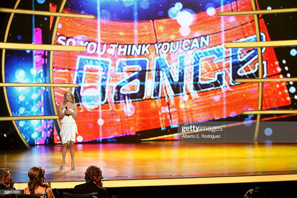 TV host Cat Deeley at the 'So You Think You Can Dance' finale held at the Kodak Theater on August 6 2009 in Hollywood California