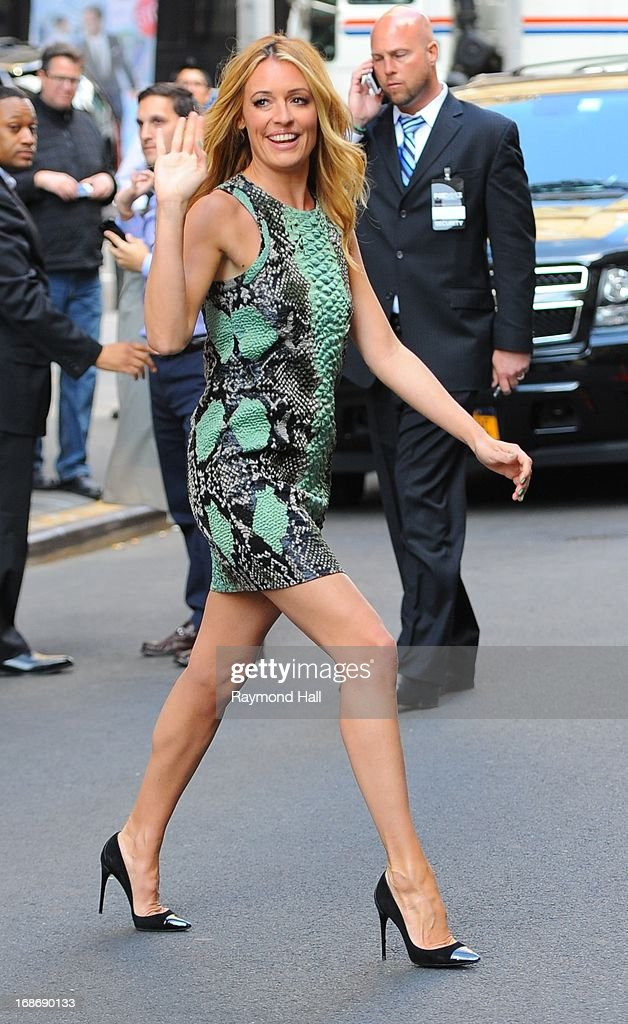 TV Host Cat Deeley is seen outside 'Citrus Bar & Grill' on May 13, 2013 in New York City.