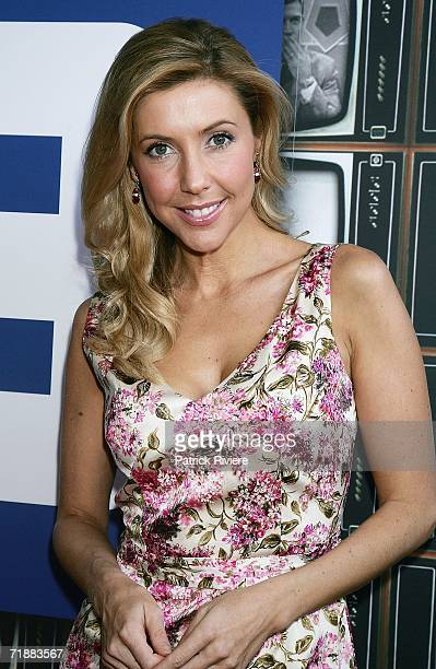TV host Catriona Rowntree attends the Channel Nine lunch to celebrate Australian television's 50th birthday at the Peacock Gardens restaurant on...