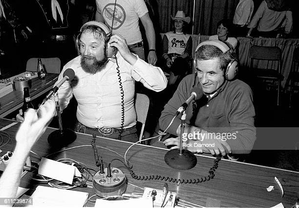 Host Charlie Daniels chats on Music Row during CDB Jam VIII on January 17 1981