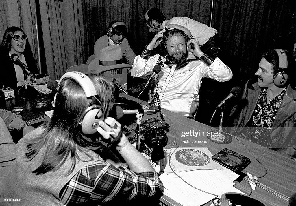 Host Charlie Daniels (CDB) chats on radio row during CDB Jam VIII on January 17, 1981