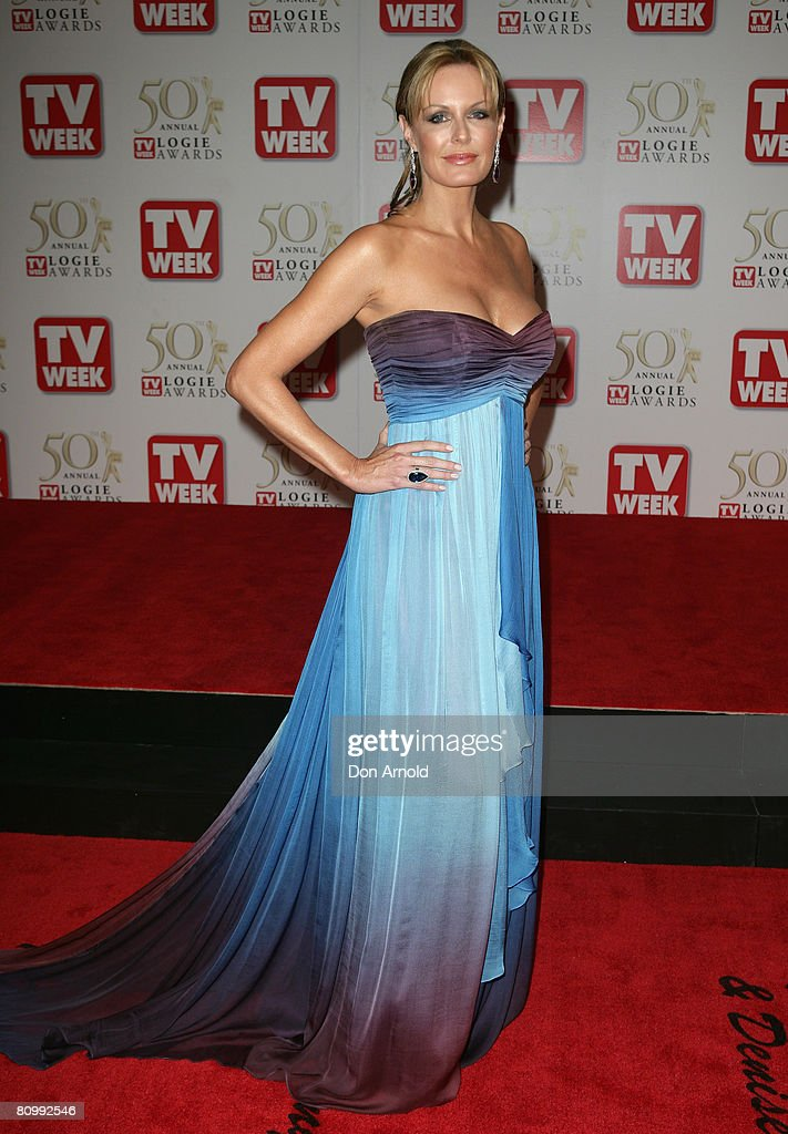 TV host Charlotte Dawson arrives on the red carpet at the 50th Annual TV Week Logie Awards at the Crown Towers Hotel and Casino on May 4 2008 in...