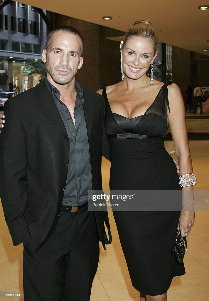 TV host Charlotte Dawson arrives with a friend at the Rachel Hunter St Tropez Beach Party a fundraiser for the Sydney Children's Hospital at Westmead...