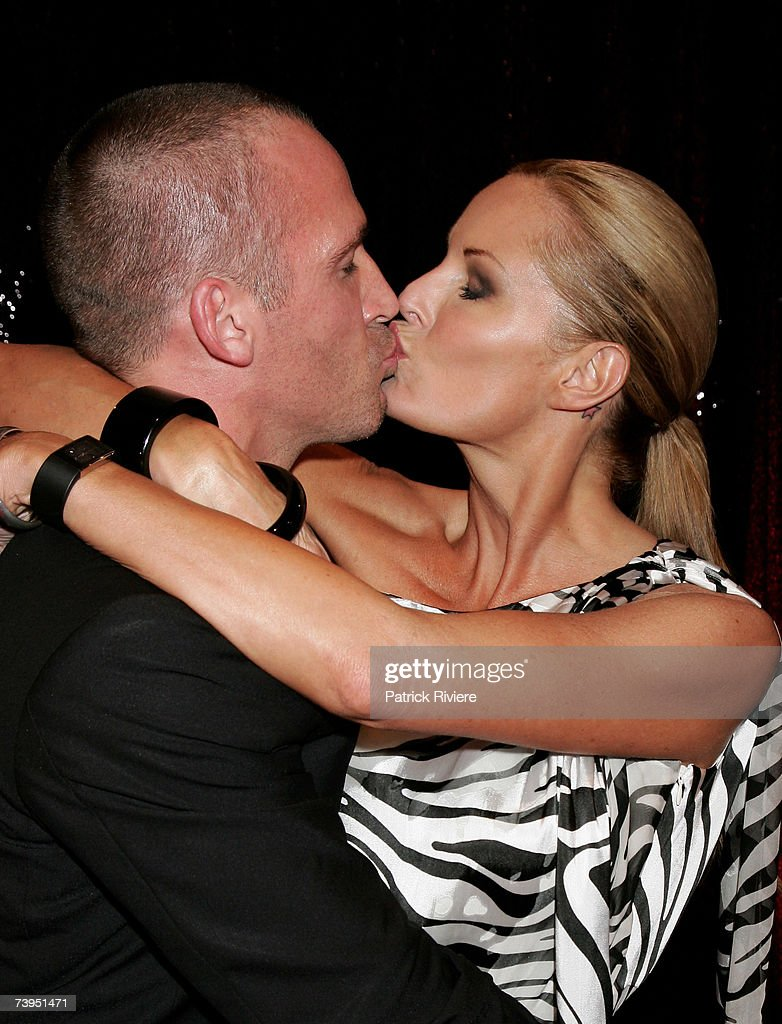 TV host Charlotte Dawson arrives with Jez Smith at the ASTRA Awards 2007 the 5th annual Australian Subscription Television and Radio Association...