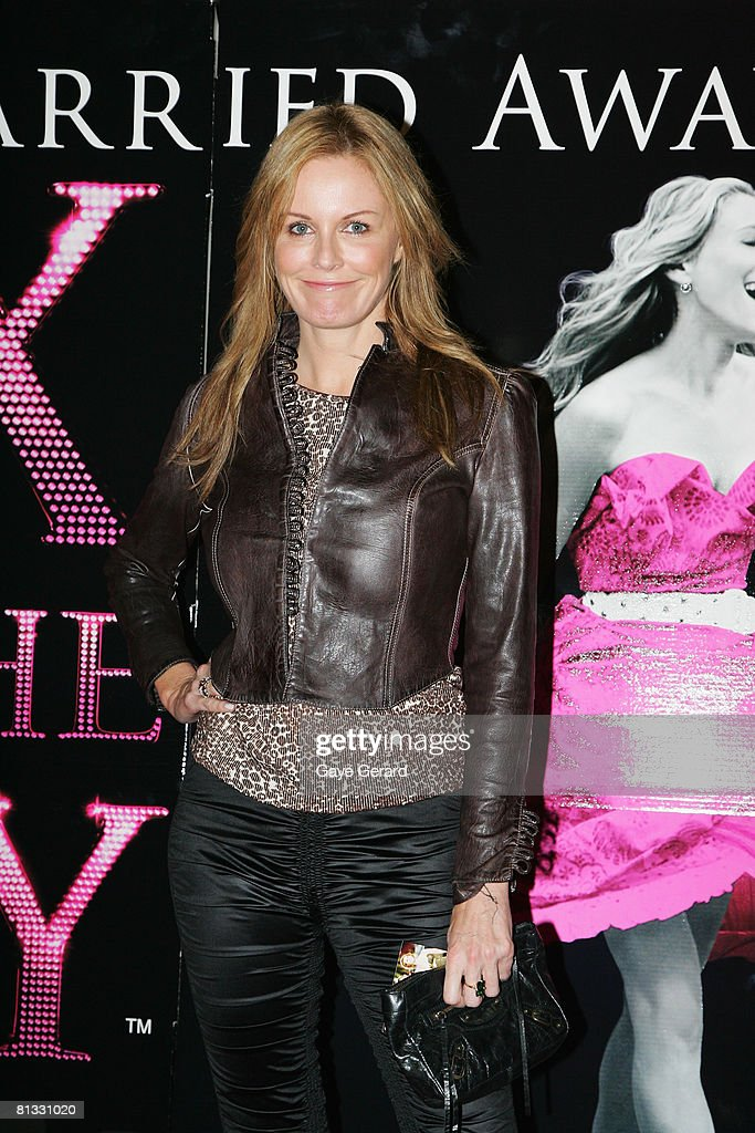 TV host Charlotte Dawson attends the Australian premiere of `Sex and the City' at the Hoyts Cinema in the Entertainment Quarter on June 2 2008 in...